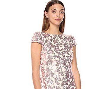 Pink Calvin Klein floral maxi dress